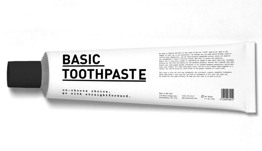 Packaging dentifrice basique