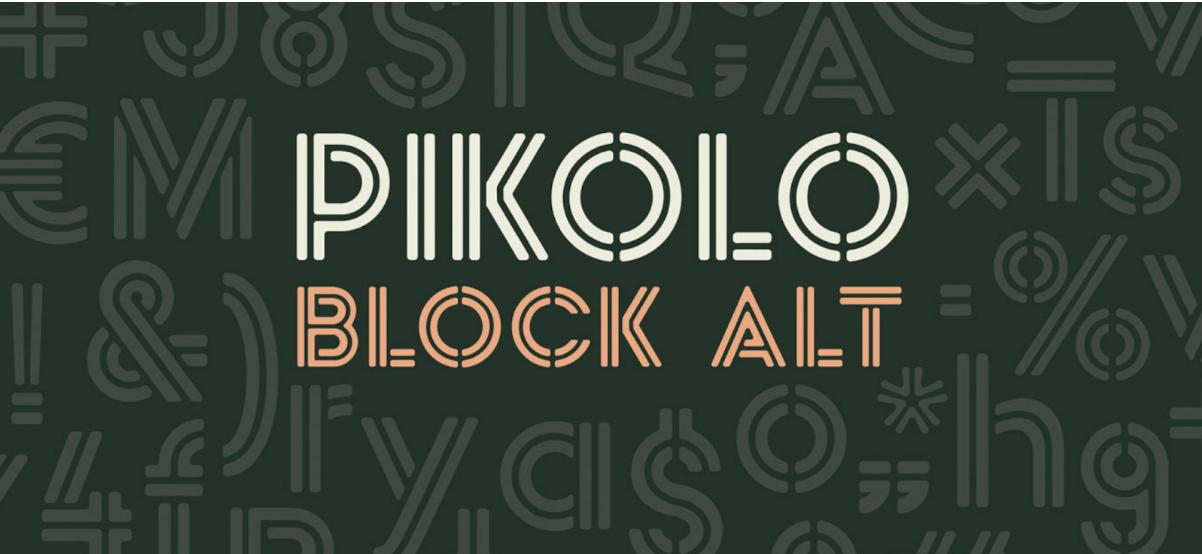 Typogaphie Pikolo Block ALT