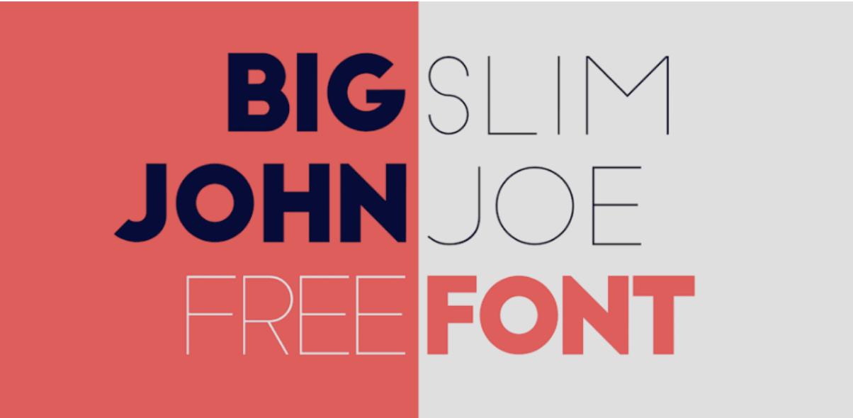 typographies big john et slim