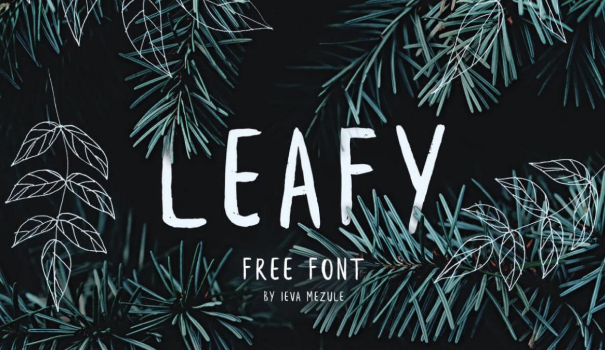 typographie gratuite leafy
