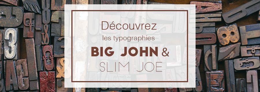 bannière typographie big john slim joe