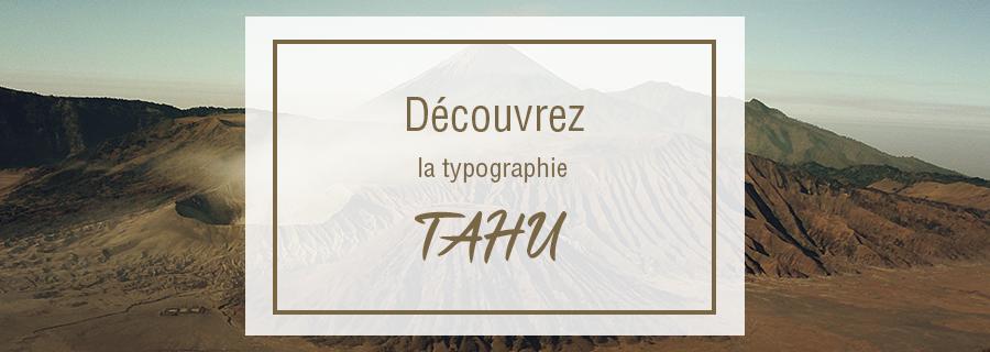 bannière typographie gratuite tahu