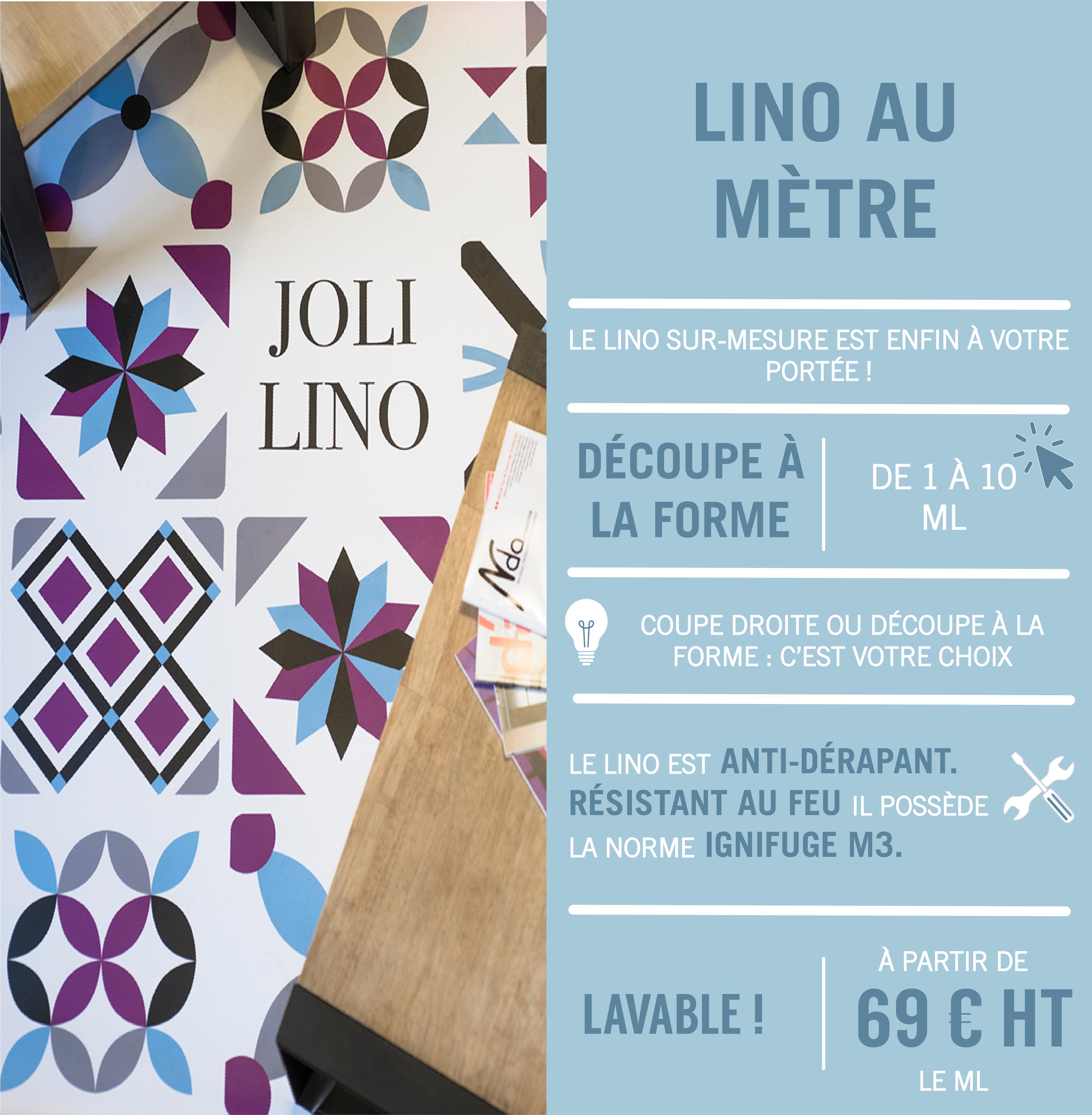 infographie lino au mètre