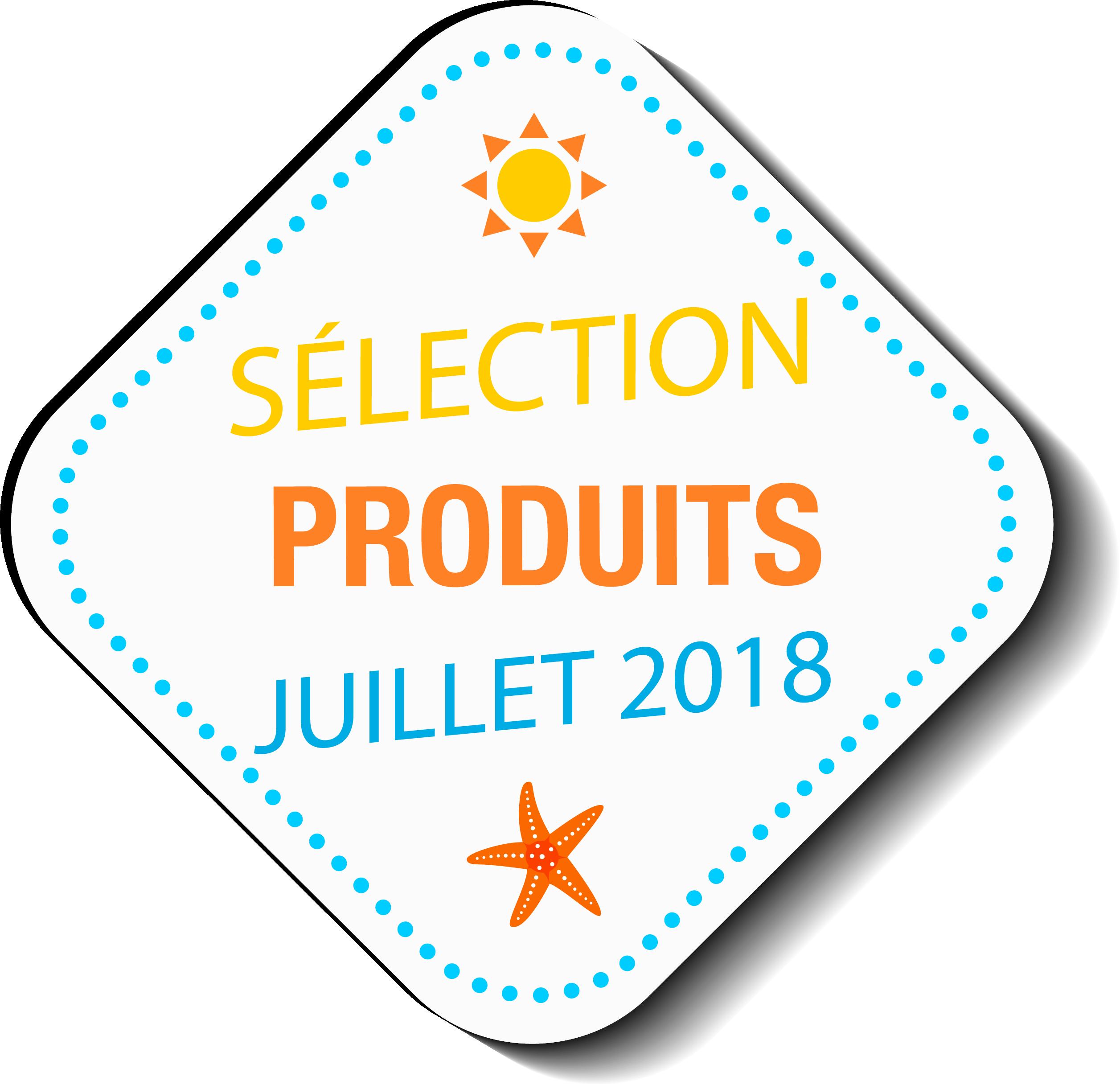 visuel sélection produits juillet 2018