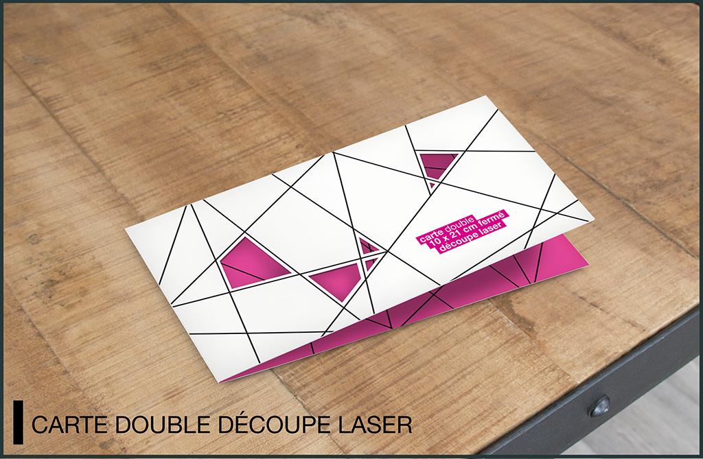 mockup carte double découpe laser