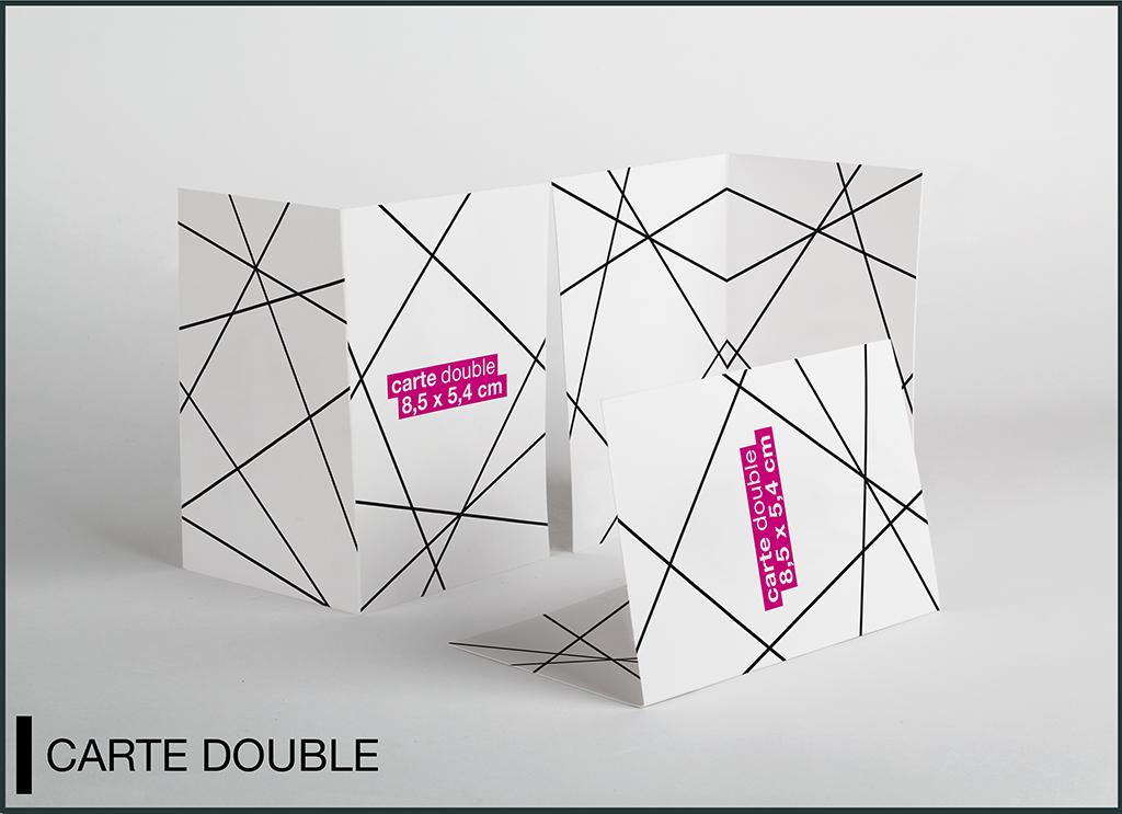 mockup carte de visite double