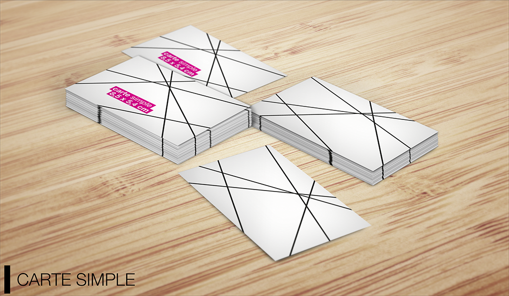mockup carte simple