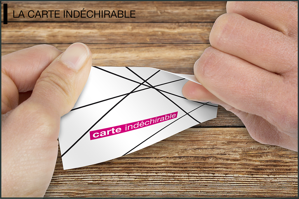 carte indéchirable mockup
