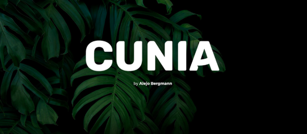 typographie gratuite cunia