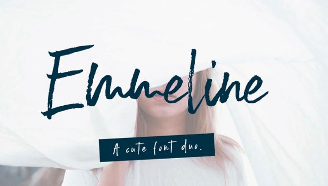 typographie gratuite emmeline