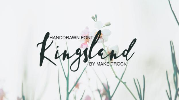 kingsland typographie gratuite