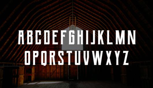 typographie berg