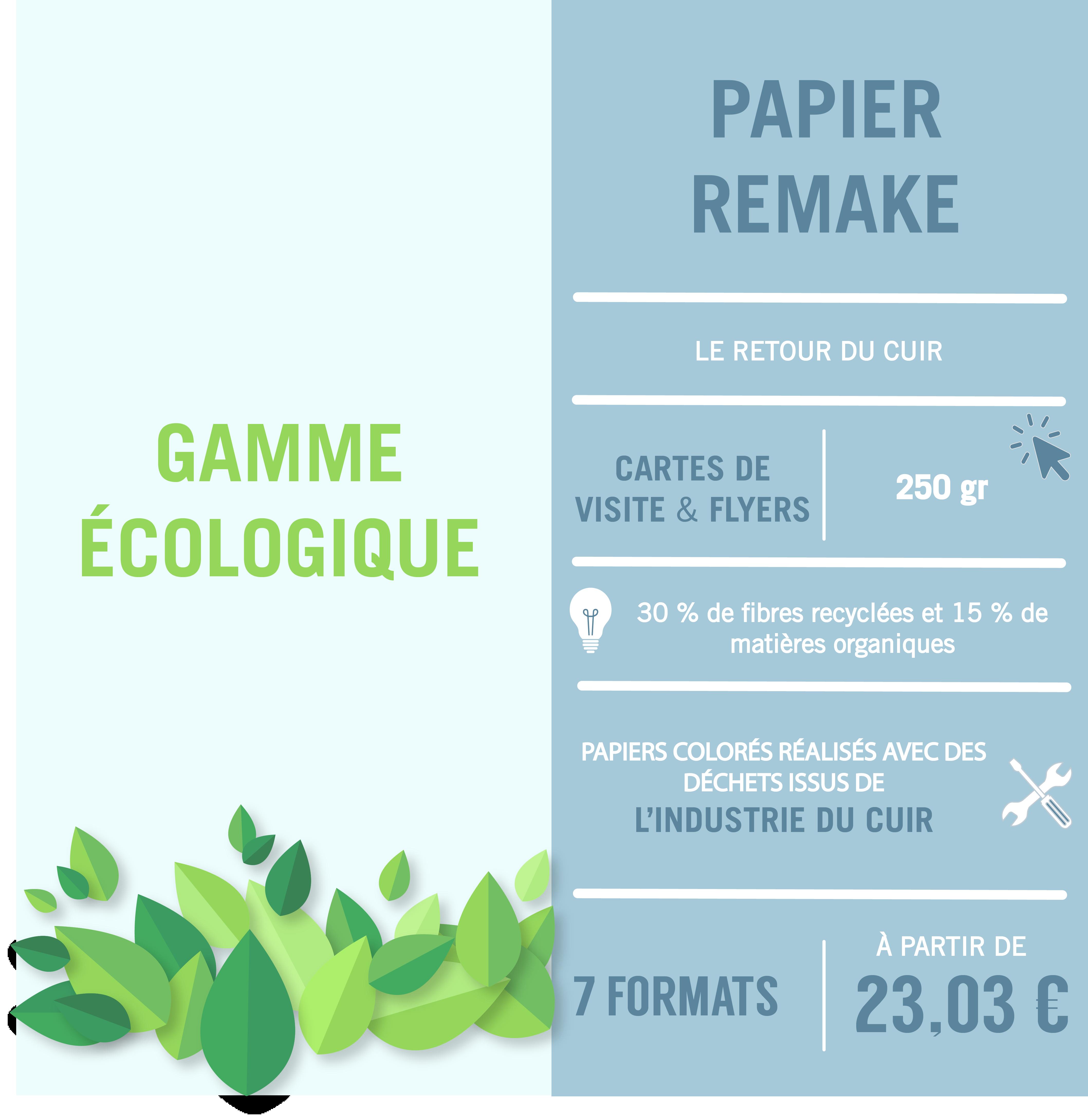 papier écologique papier remake