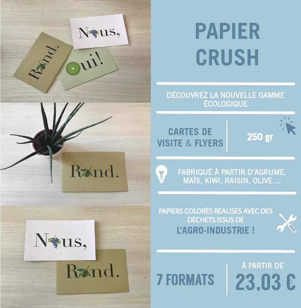 nouveauté écologique papier crush