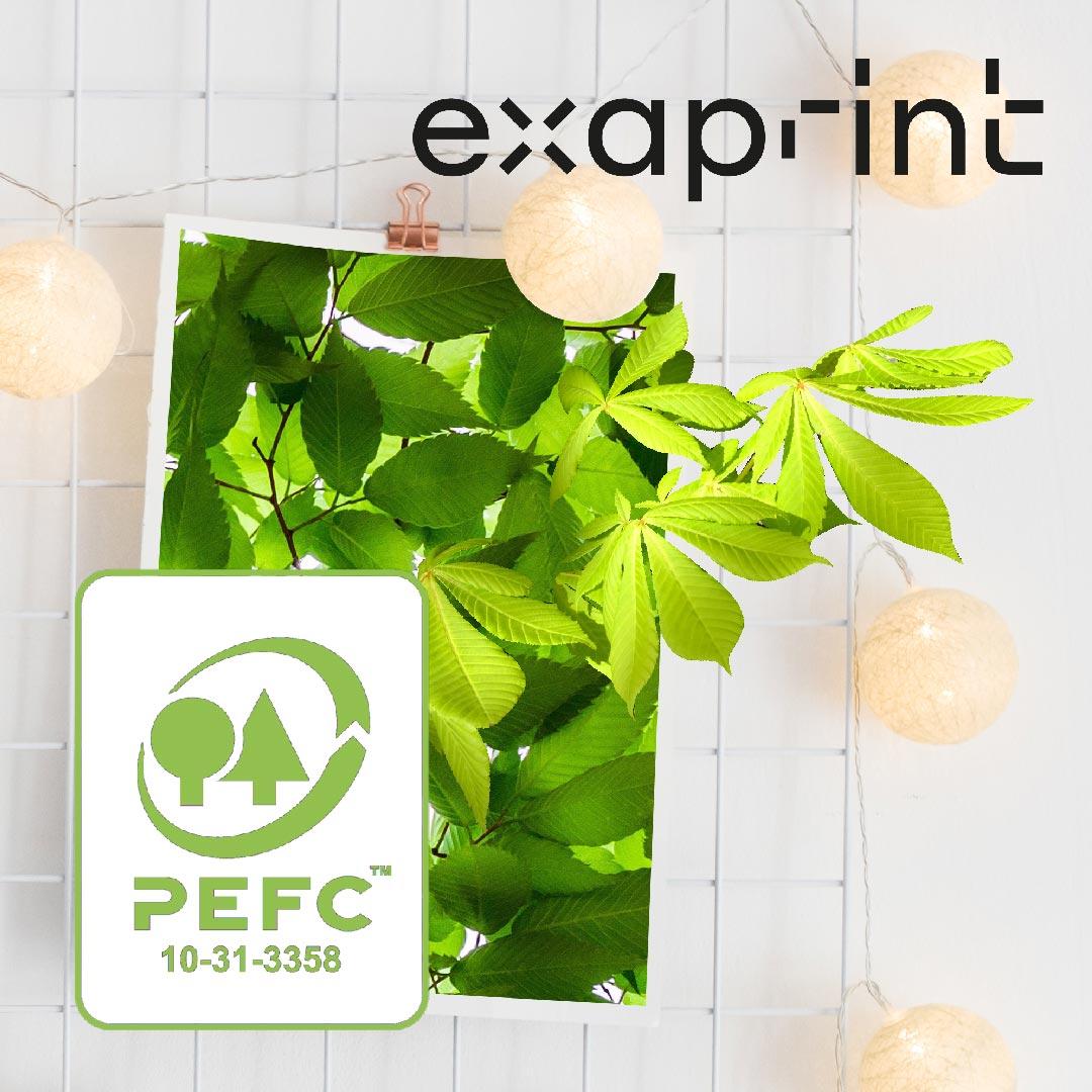 LA MARQUE PEFC™ //Exaprint s'engage pour la gestion durable des forêts