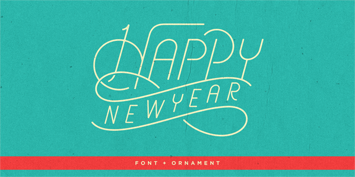typographie aerioz happy new year