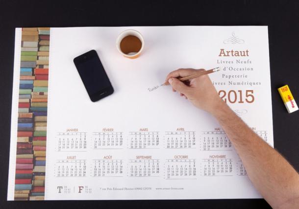 calendrier sous main