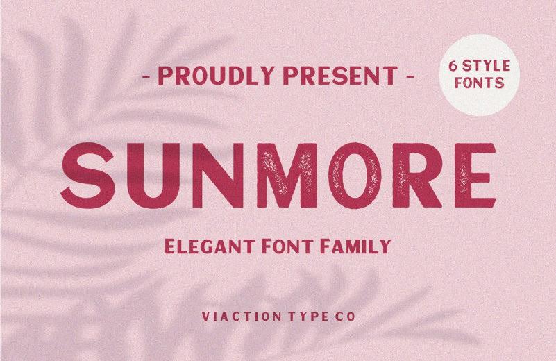 typographie sunmore