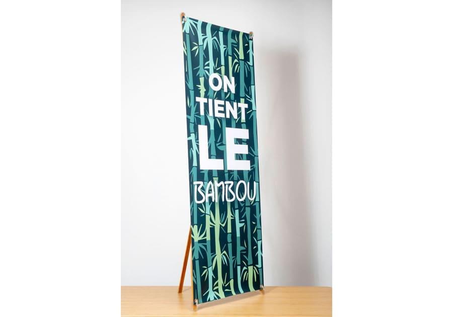 x-banner bambou face