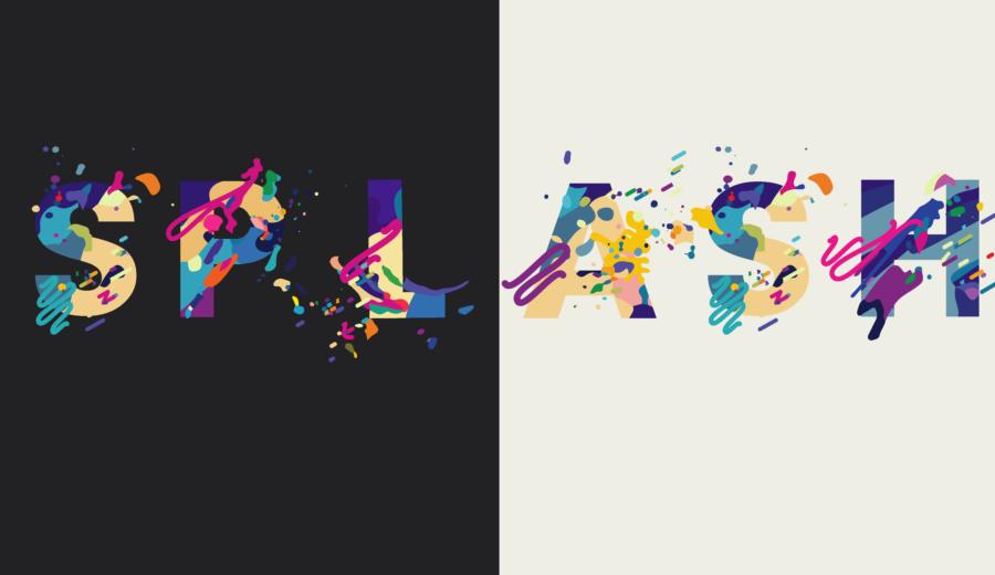 typographie splash font police