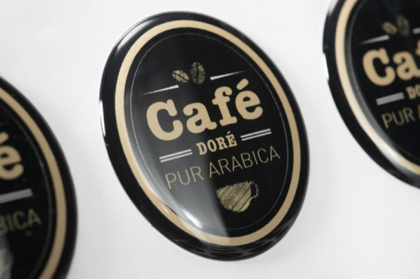 sticker doming café