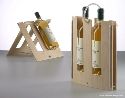 packaging bois bouteille