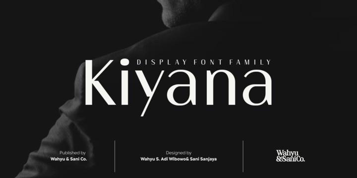 typographie kiyana