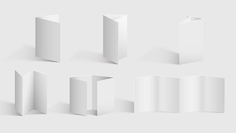 differents plis depliants