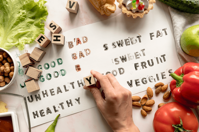 typographie tampon legumes