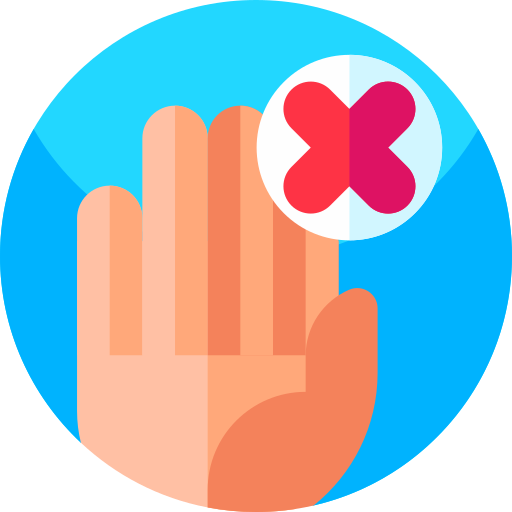 icone interdit de toucher