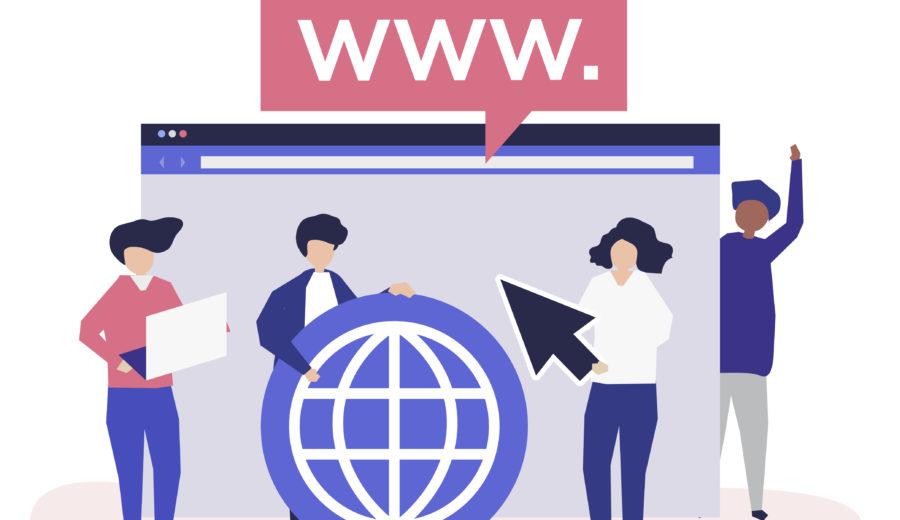 site web page d'accueil