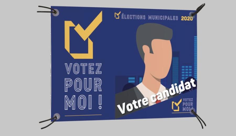 panneau polypropylène élections municipales