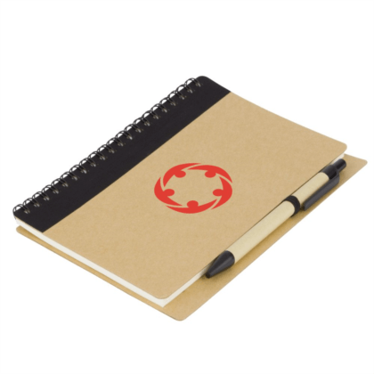 calepin ecologique recycle avec stylo