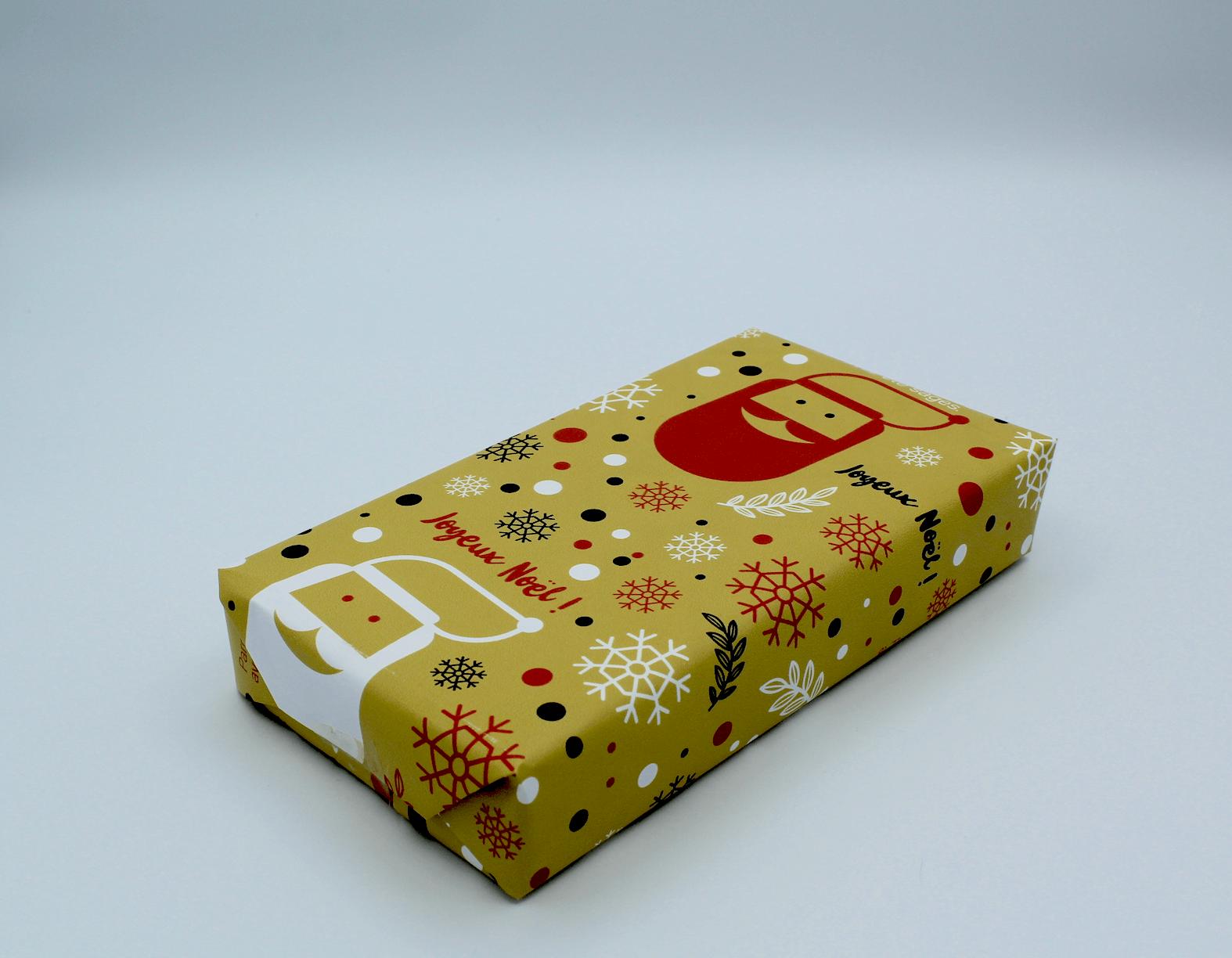 emballage papier cadeau pere noel