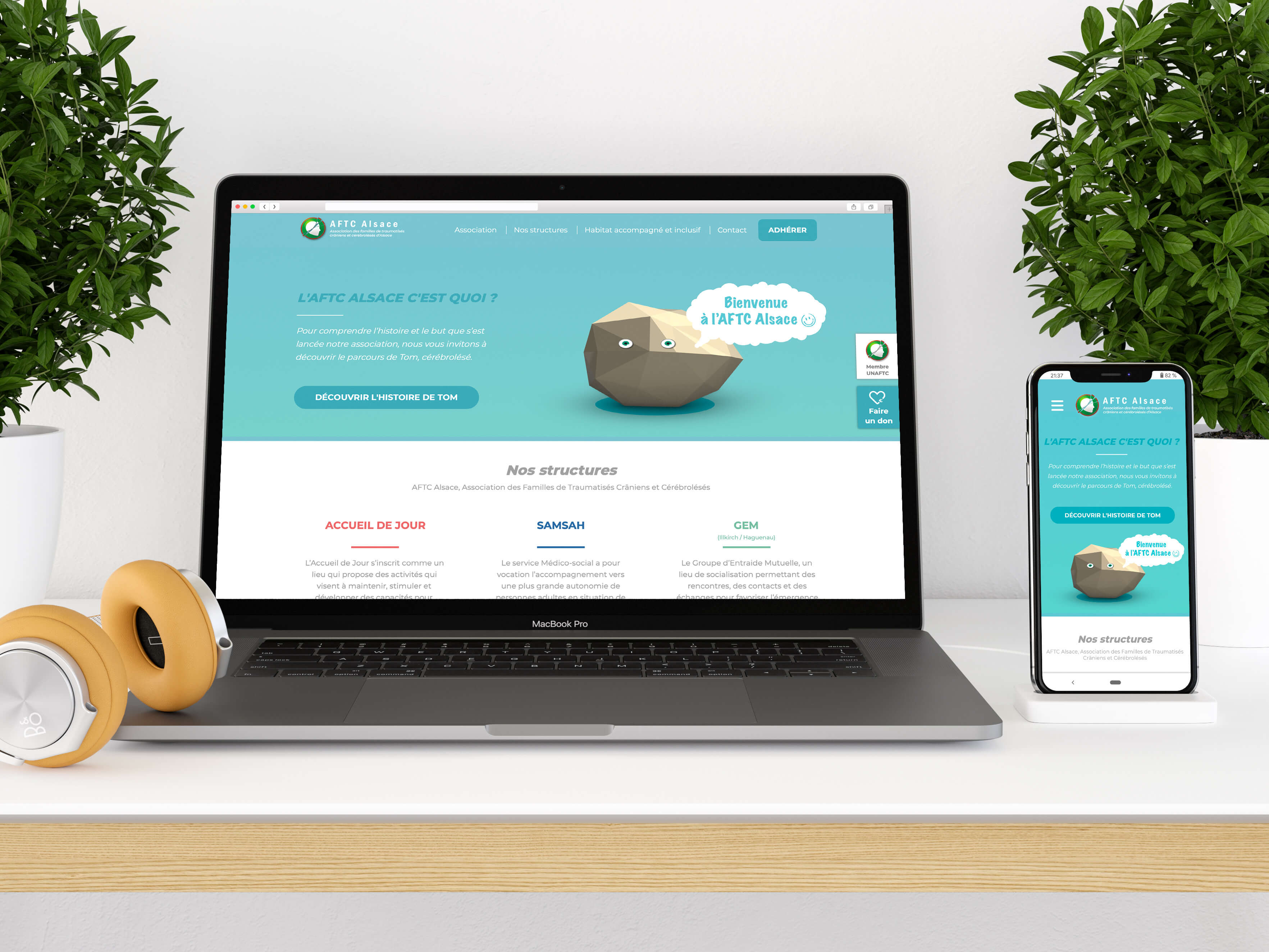interface du site de l'aftc alsace par maxime de la pppixl company